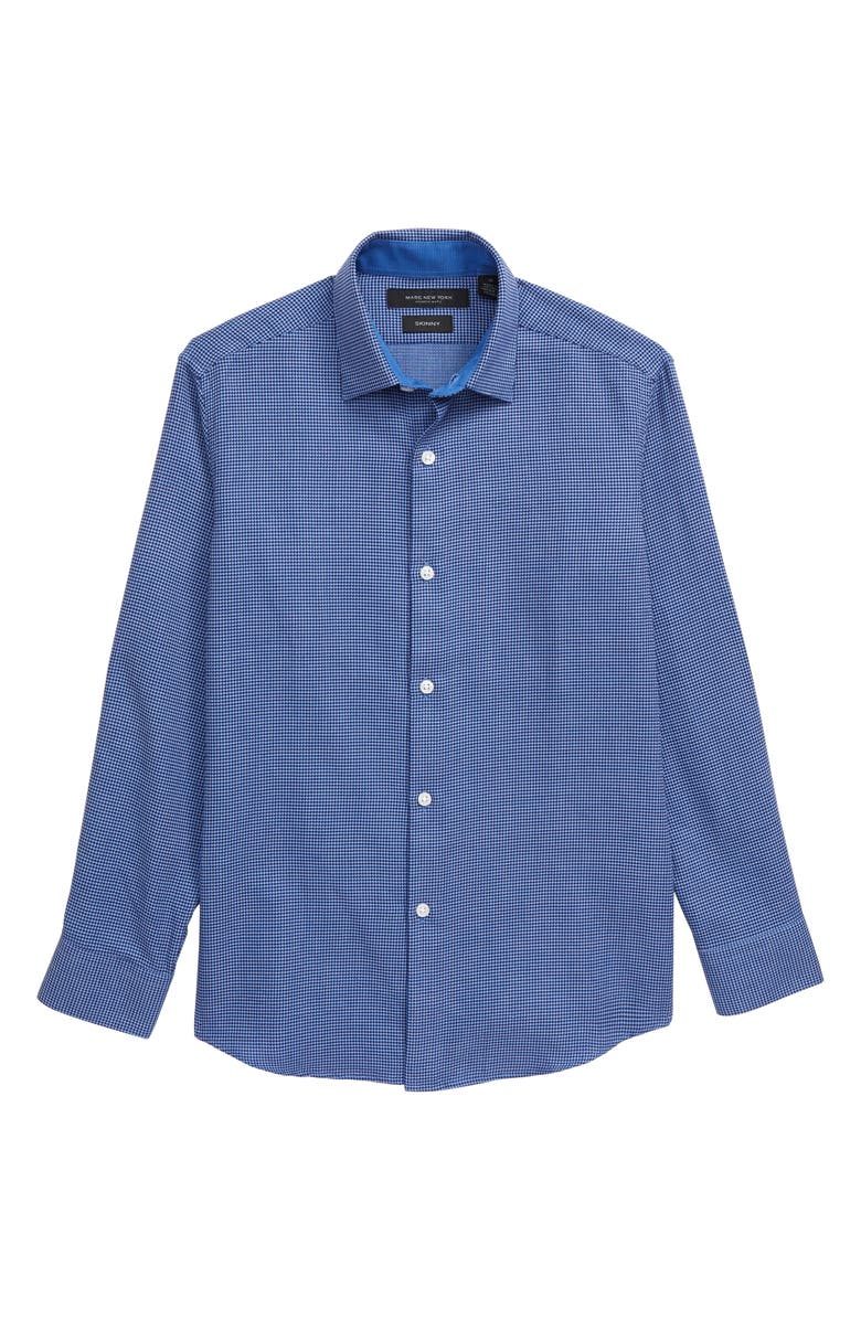 ANDREW MARC Print Dress Shirt, Main, color, NAVY/ LIGHT BLUE