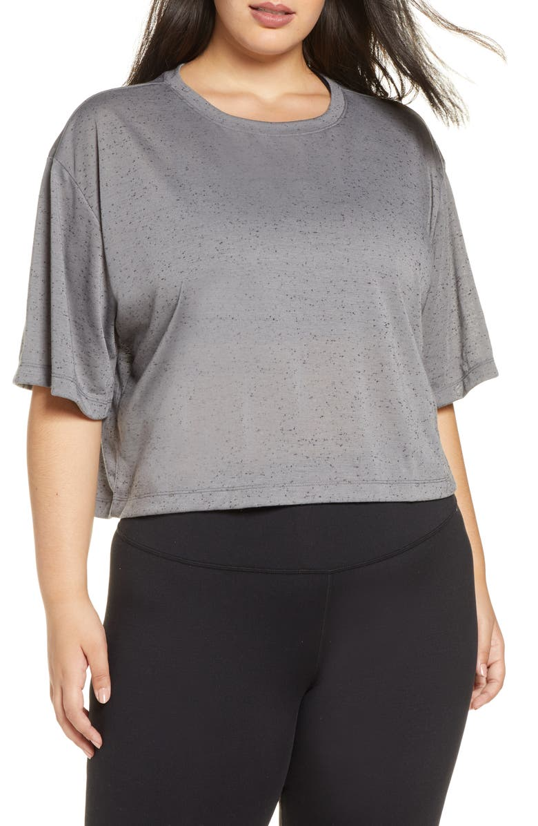 ZELLA Rito Crop T-Shirt, Main, color, GREY SHADE