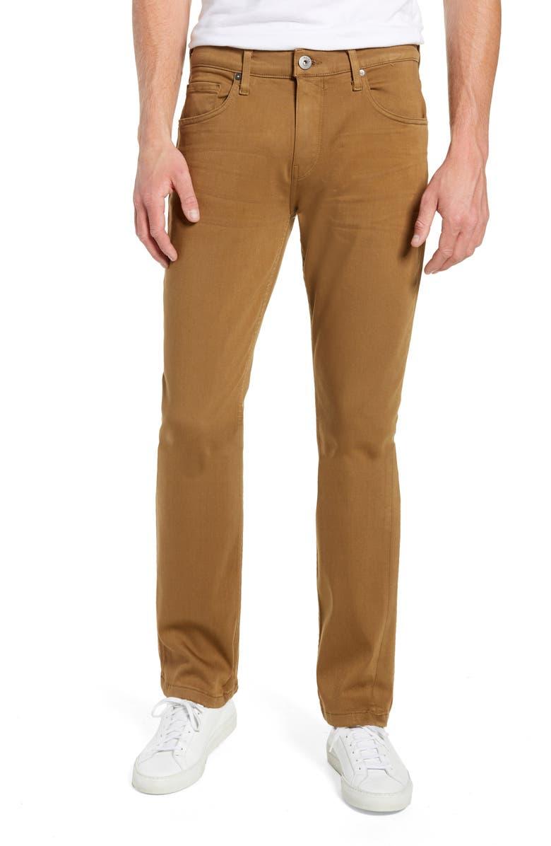 PAIGE Transcend - Lennox Slim Fit Jeans, Main, color, LAUREL TAN