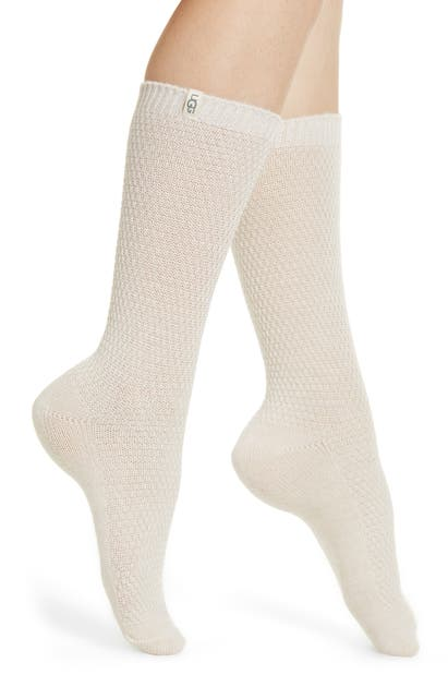 Ugg Classic Boot Socks In Cream Heather