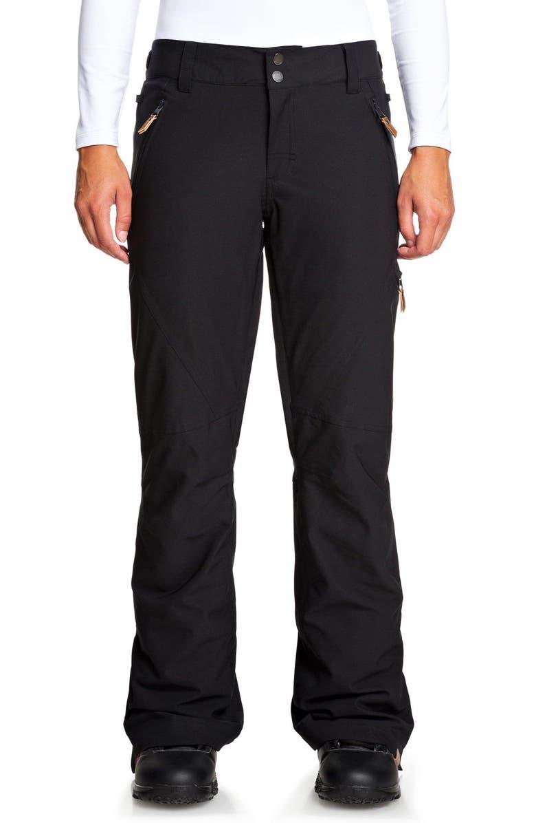 ROXY Cabin Snow Pants, Main, color, TRUE BLACK