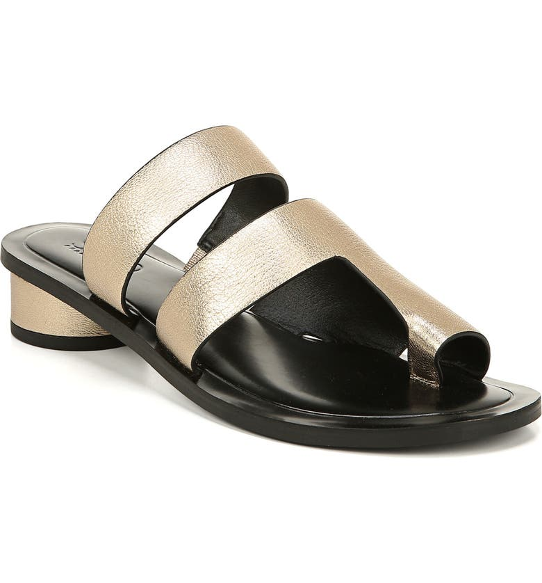 SARTO BY FRANCO SARTO Trixie Slide Sandal, Main, color, PLATINO LEATHER