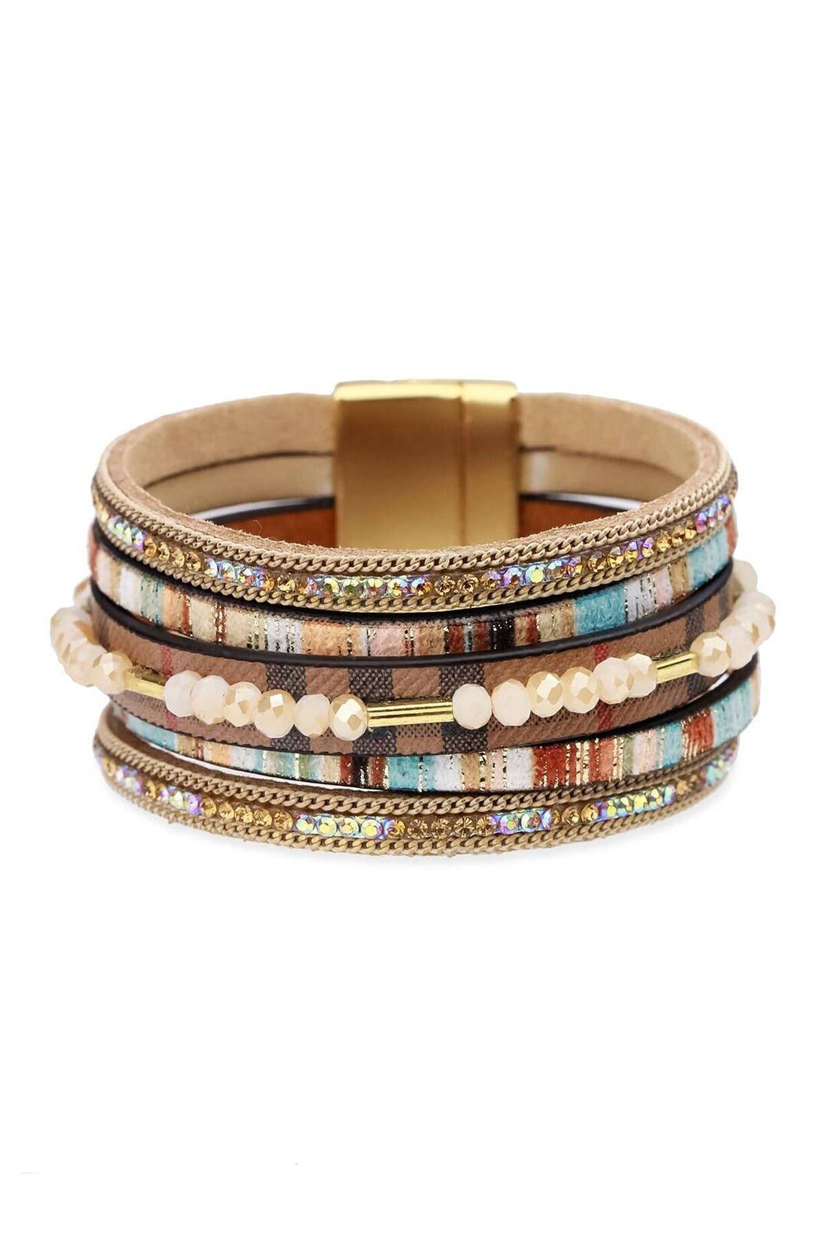 Image of Saachi Beaded Leather Bracelet