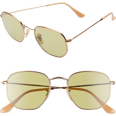 Ray-Ban 51Mm Polarized Sunglasses - Metallic Gold