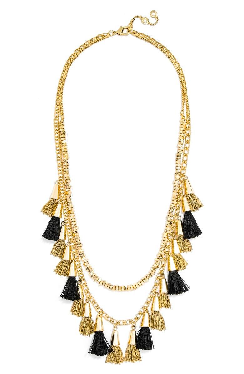 BAUBLEBAR 'Grenada Stands' Tassel Necklace, Main, color, 001