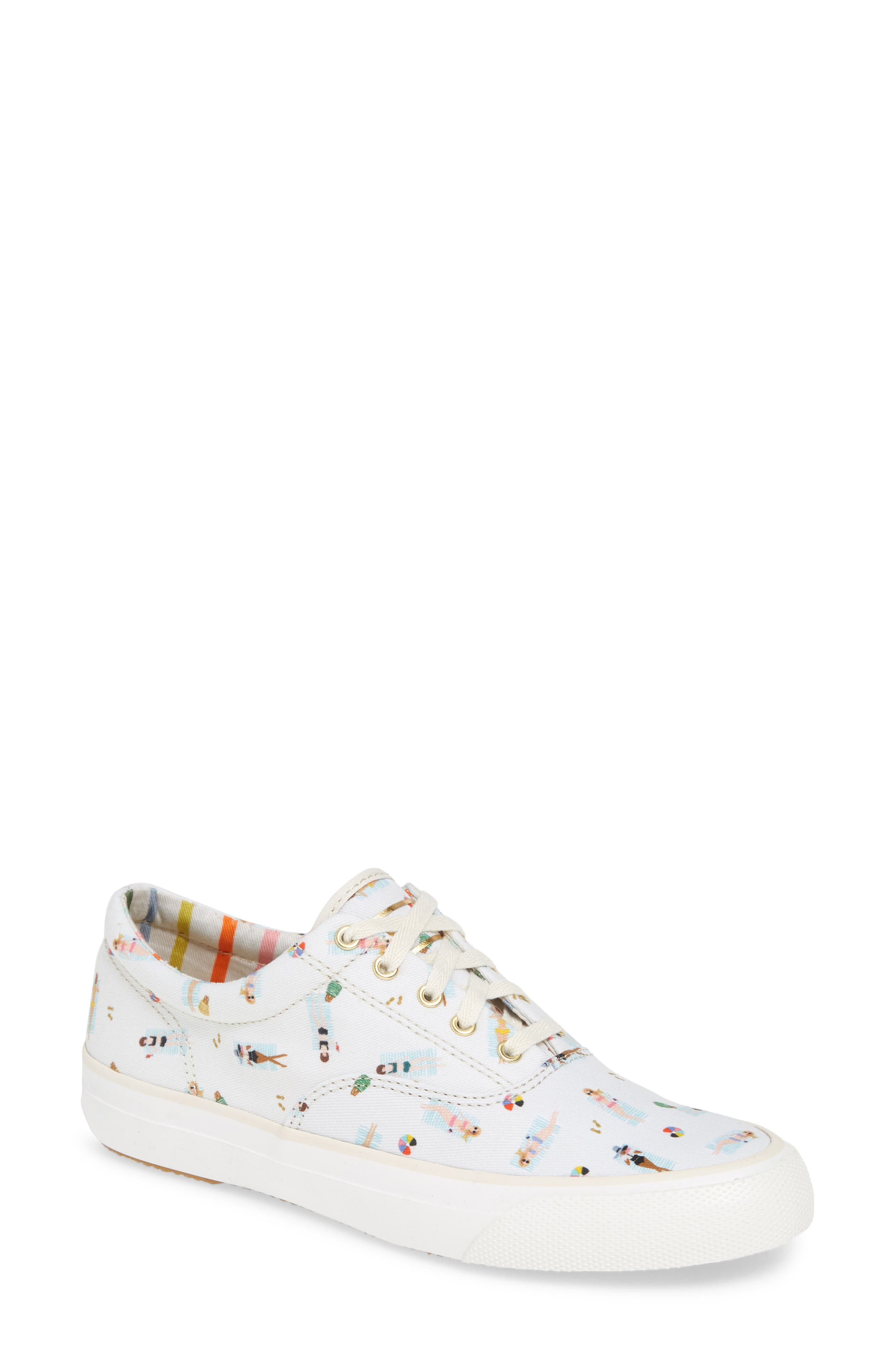 Keds X Rifle Paper Co. Sungirl Anchor Sneaker- White
