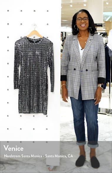 Sequin Long Sleeve Minidress, sales video thumbnail