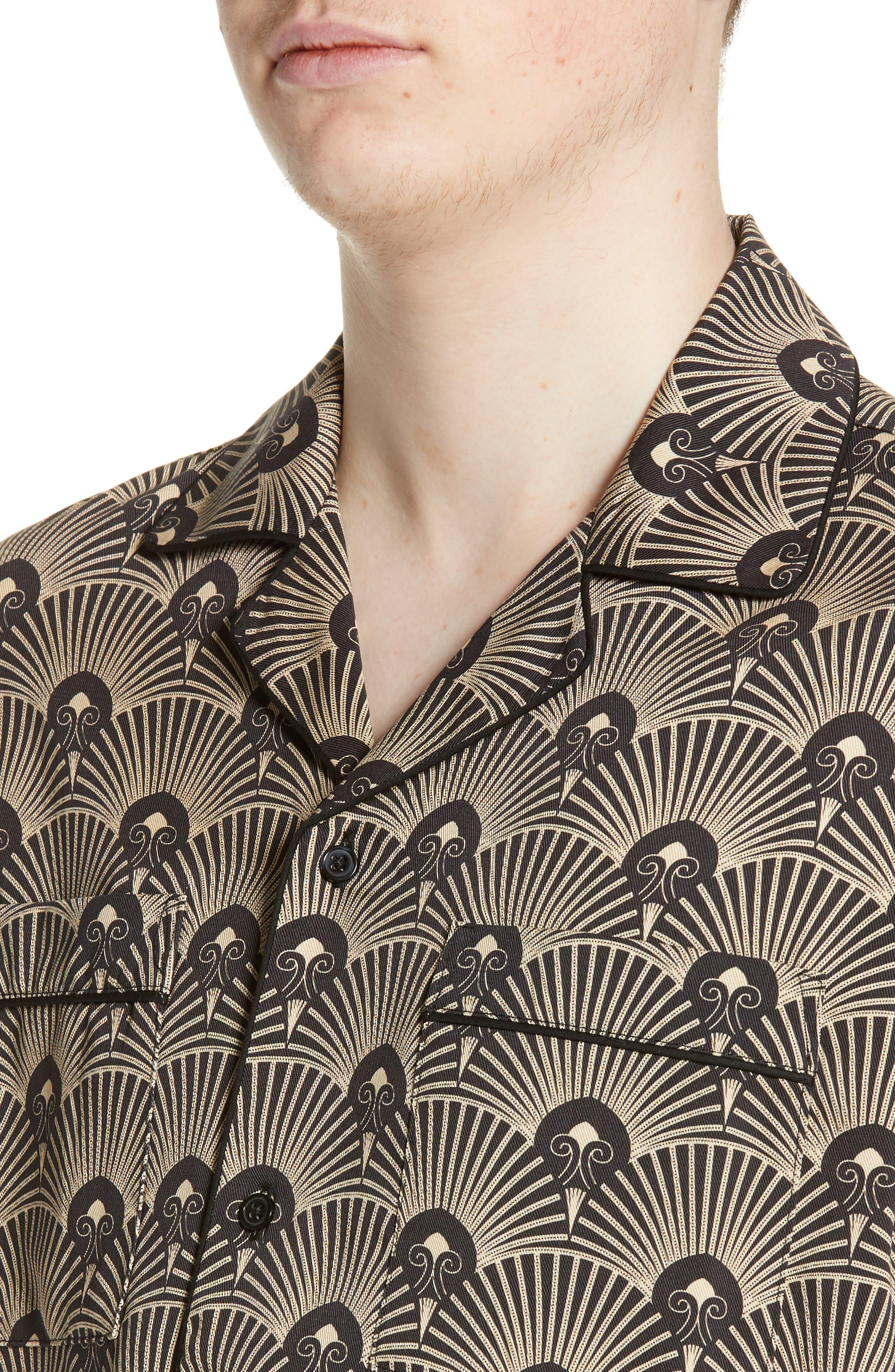 ,                             Cameron Deco Print Camp Shirt,                             Alternate thumbnail 2, color,                             001