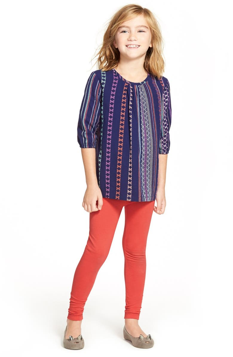 TUCKER + TATE 'Regional Stripe' Embroidered Top, Main, color, 410