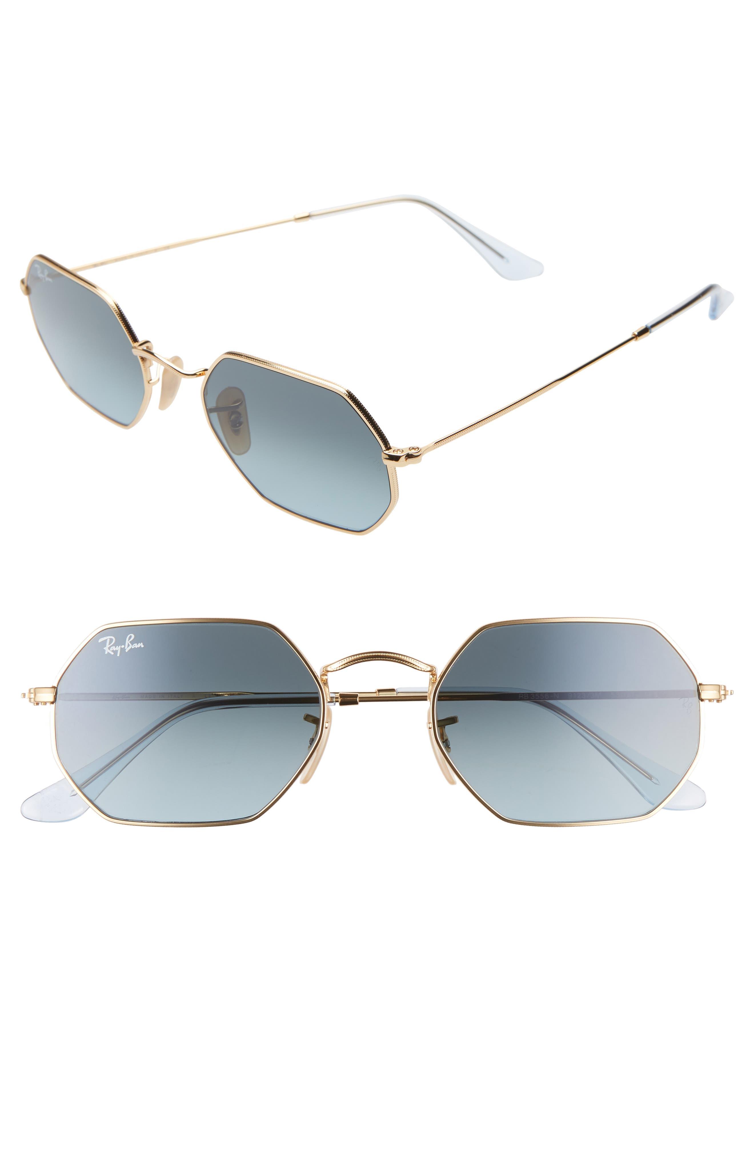 Ray-Ban 5m Rectangular Sunglasses - Gold/ Blue Gradient