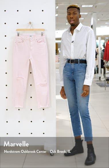 Hoxton High Waist Raw Hem Crop Slim Jeans, sales video thumbnail