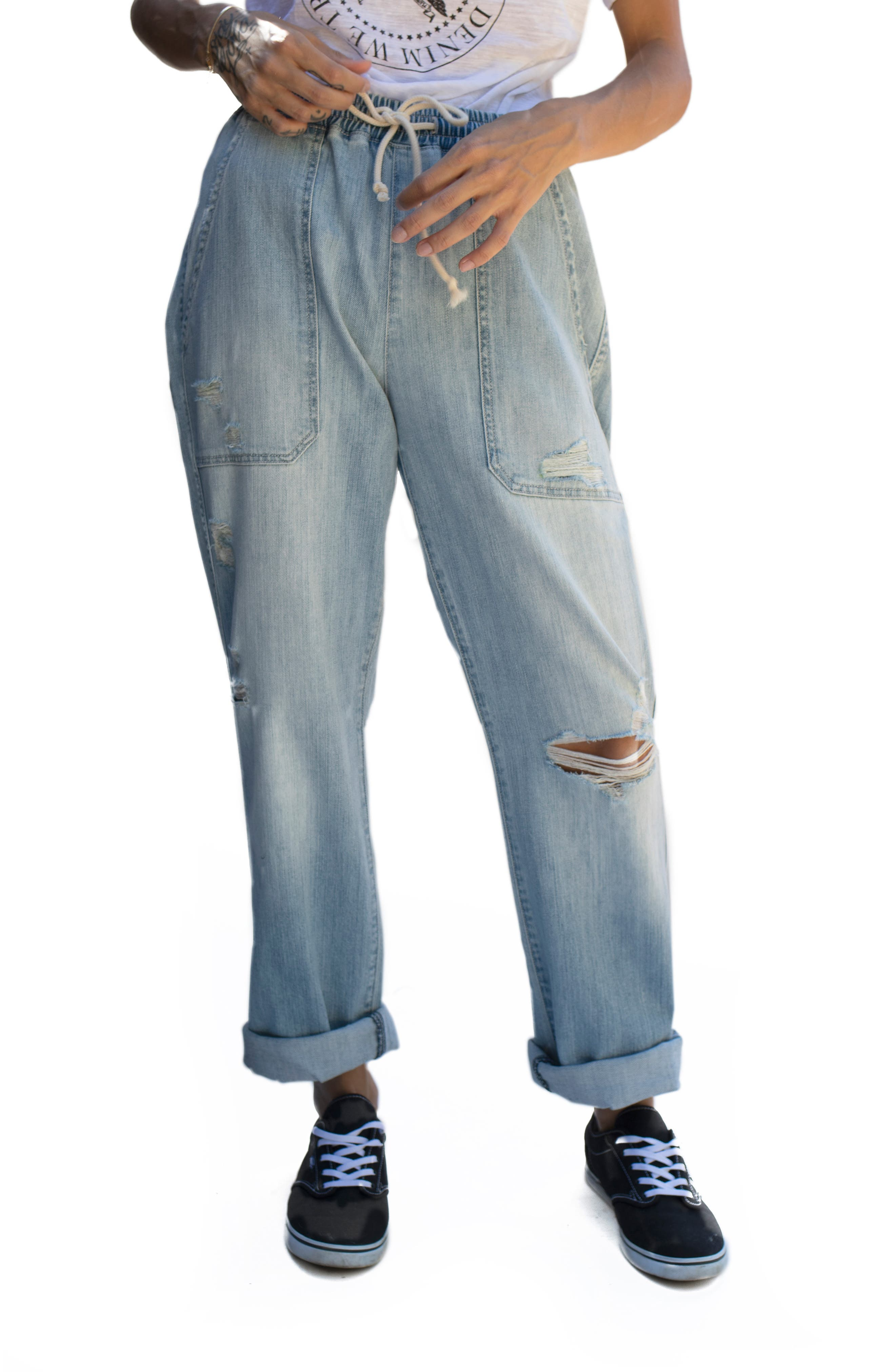 Women's Fidelity Jasper High Waist Ripped Jogger Jeans