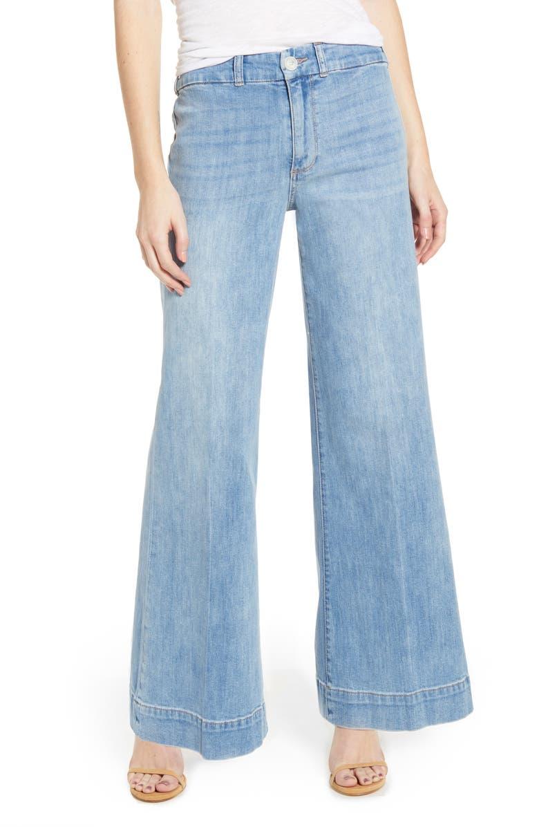 PAIGE Sutton High Waist Wide Leg Jeans, Main, color, 400