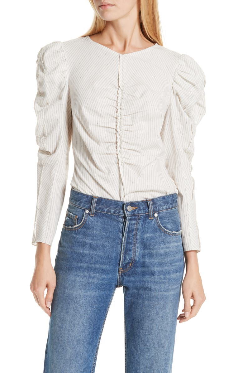 LA VIE REBECCA TAYLOR Ruched Top, Main, color, 171