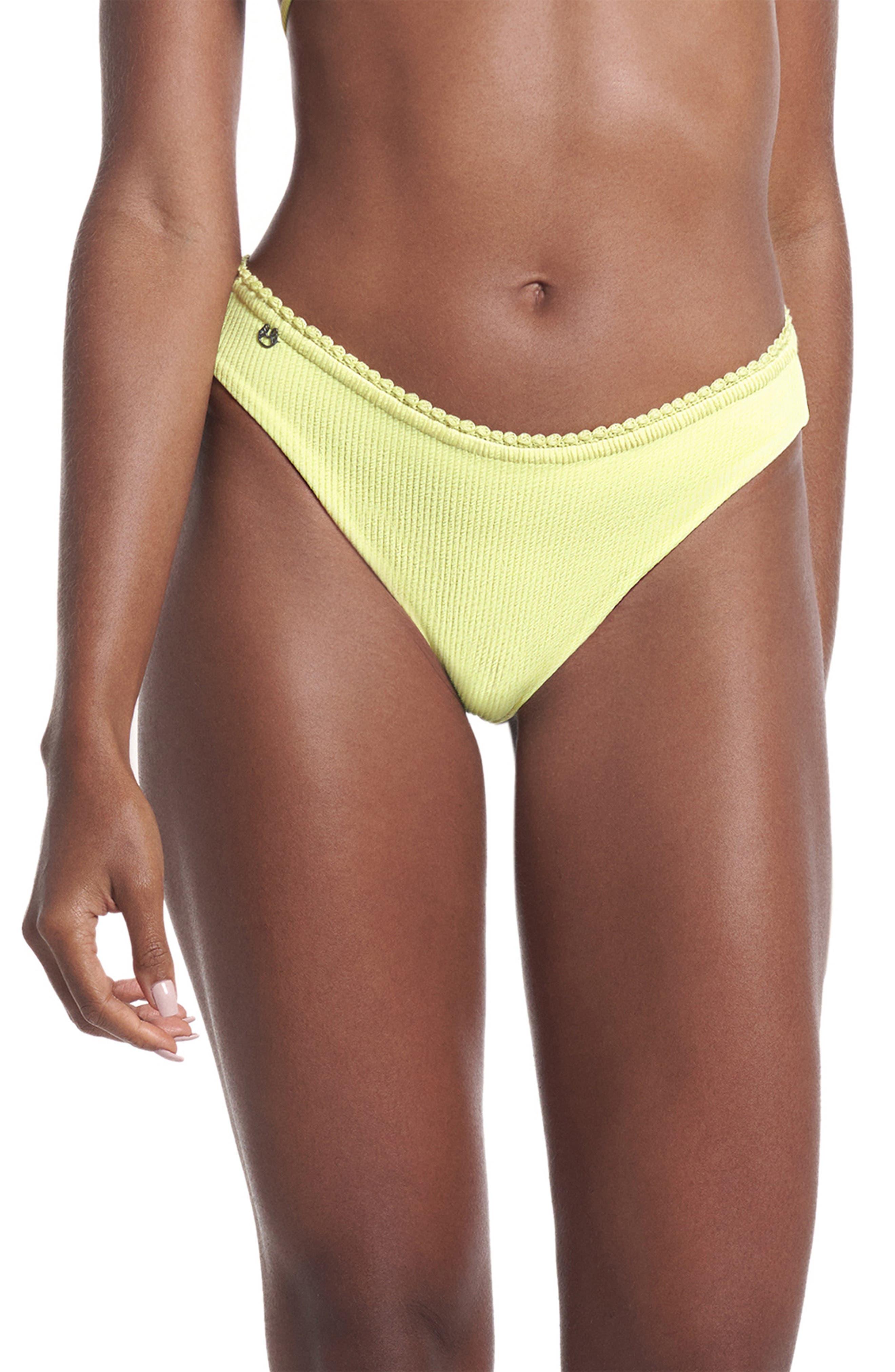 Butter Yellow Sublimity Reversible Bikini Bottoms