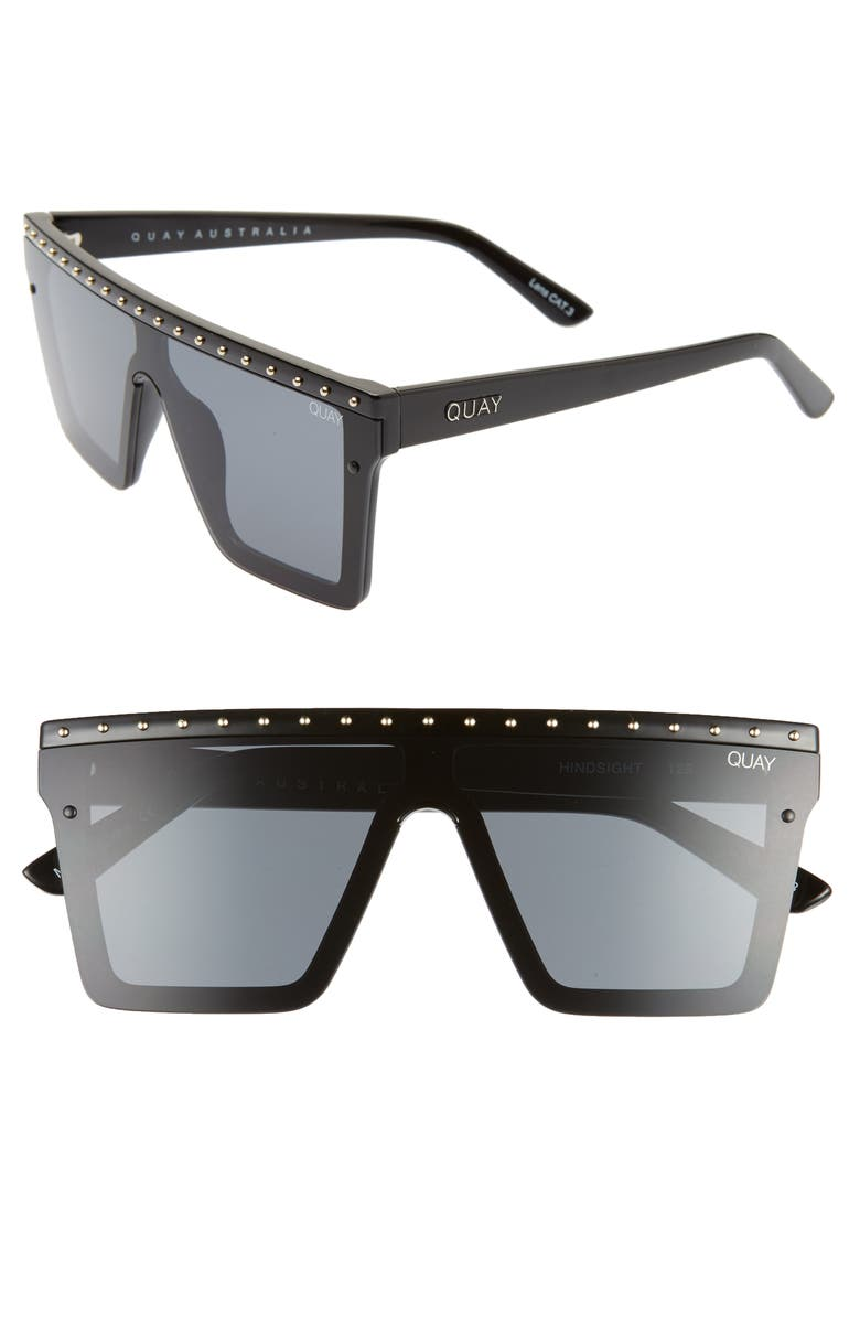 QUAY AUSTRALIA x JLO Hindsight 67mm Shield Sunglasses, Main, color, 007