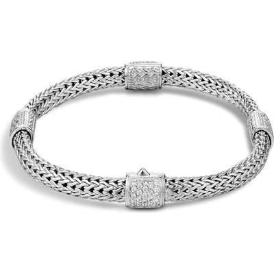 John Hardy Diamond Pave Stations Chain Bracelet