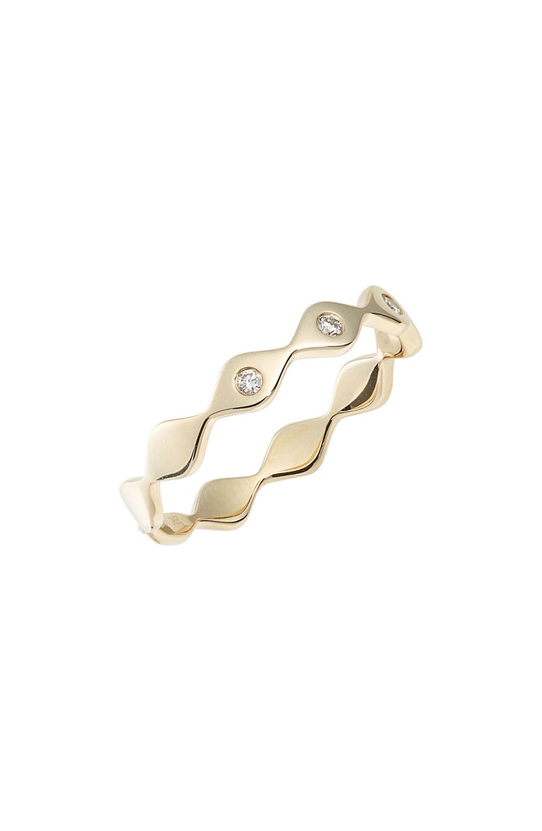 EF COLLECTION Evil Eye Diamond Stack Ring, Main, color, YELLOW GOLD