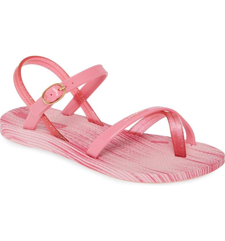 IPANEMA Suzi Print Sandal, Main, color, PINK