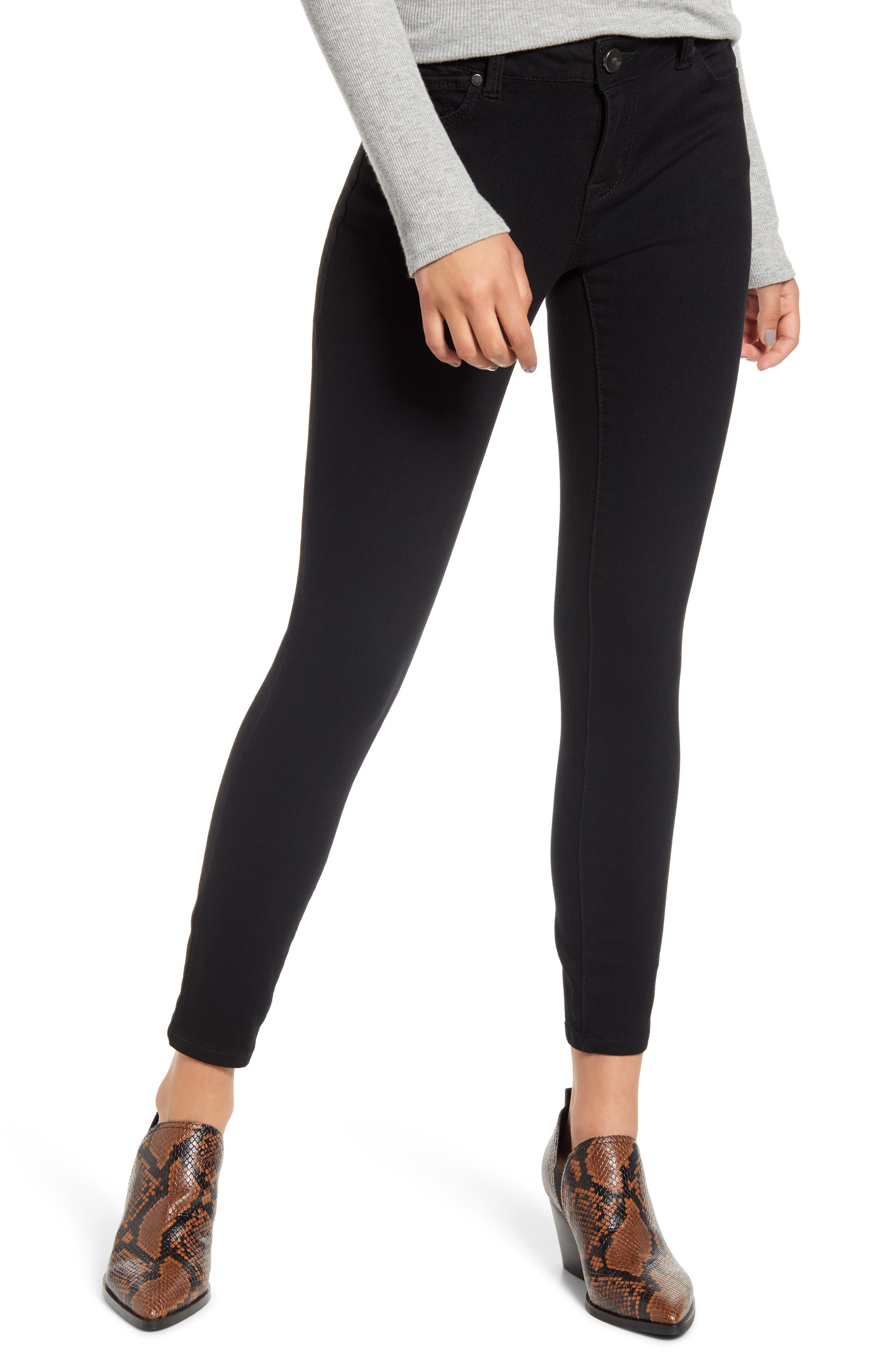 Women's 1822 Denim Re: denim Ankle Skinny Jeans,  31 - Black