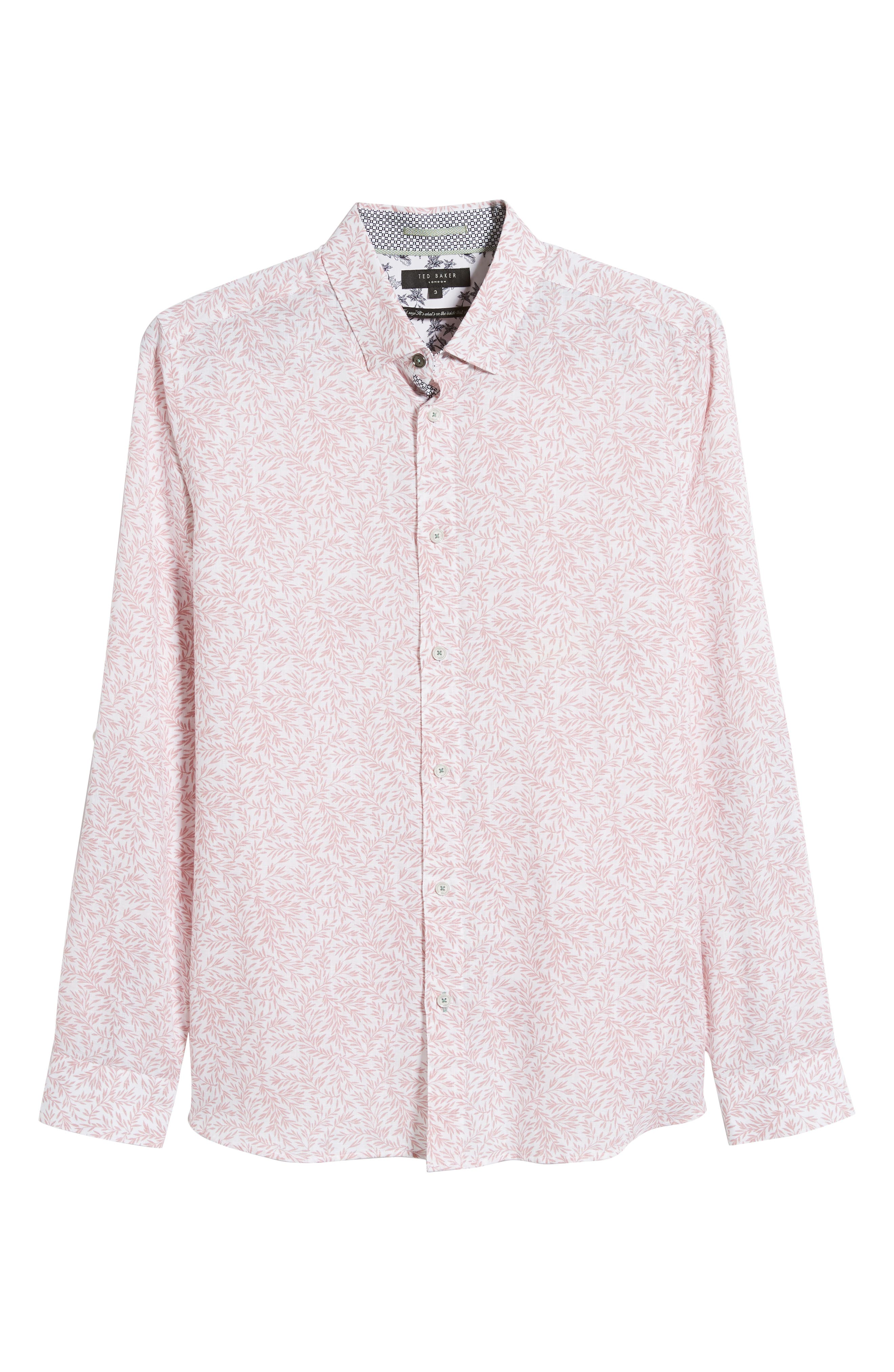 ,                             Leemar Slim Fit Floral Sport Shirt,                             Alternate thumbnail 5, color,                             PINK