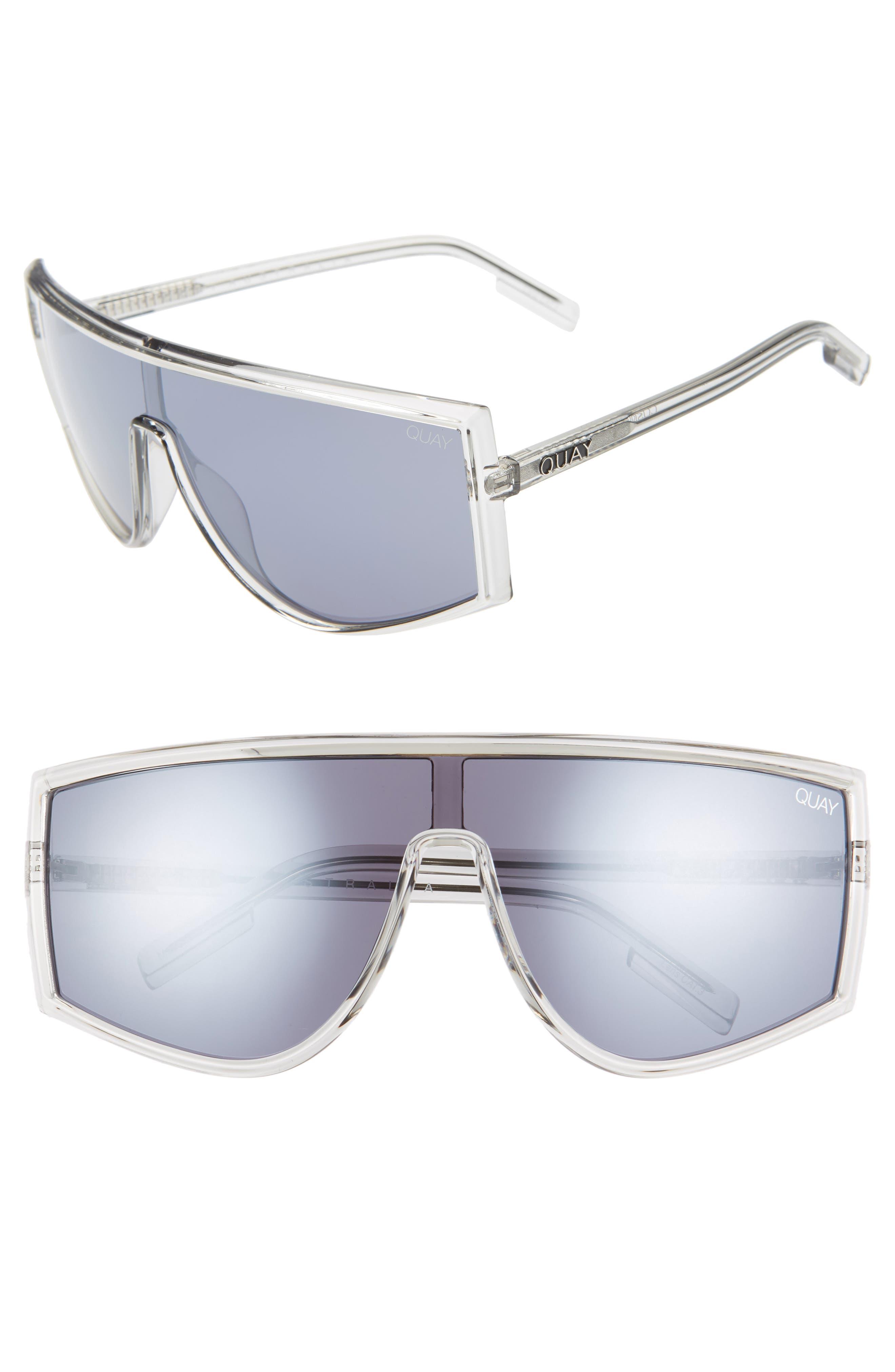 Quay Australia Cosmic 140Mm Shield Sunglasses - Grey/ Smoke