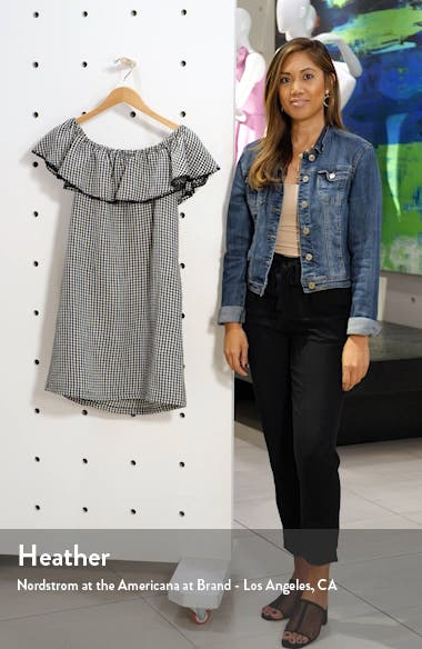Off the Shoulder Gingham Cover-Up Dress, sales video thumbnail