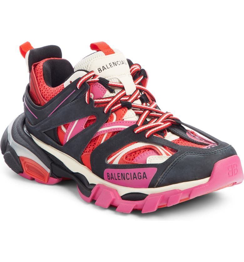 BALENCIAGA Track Sneaker, Main, color, RED/ BLACK