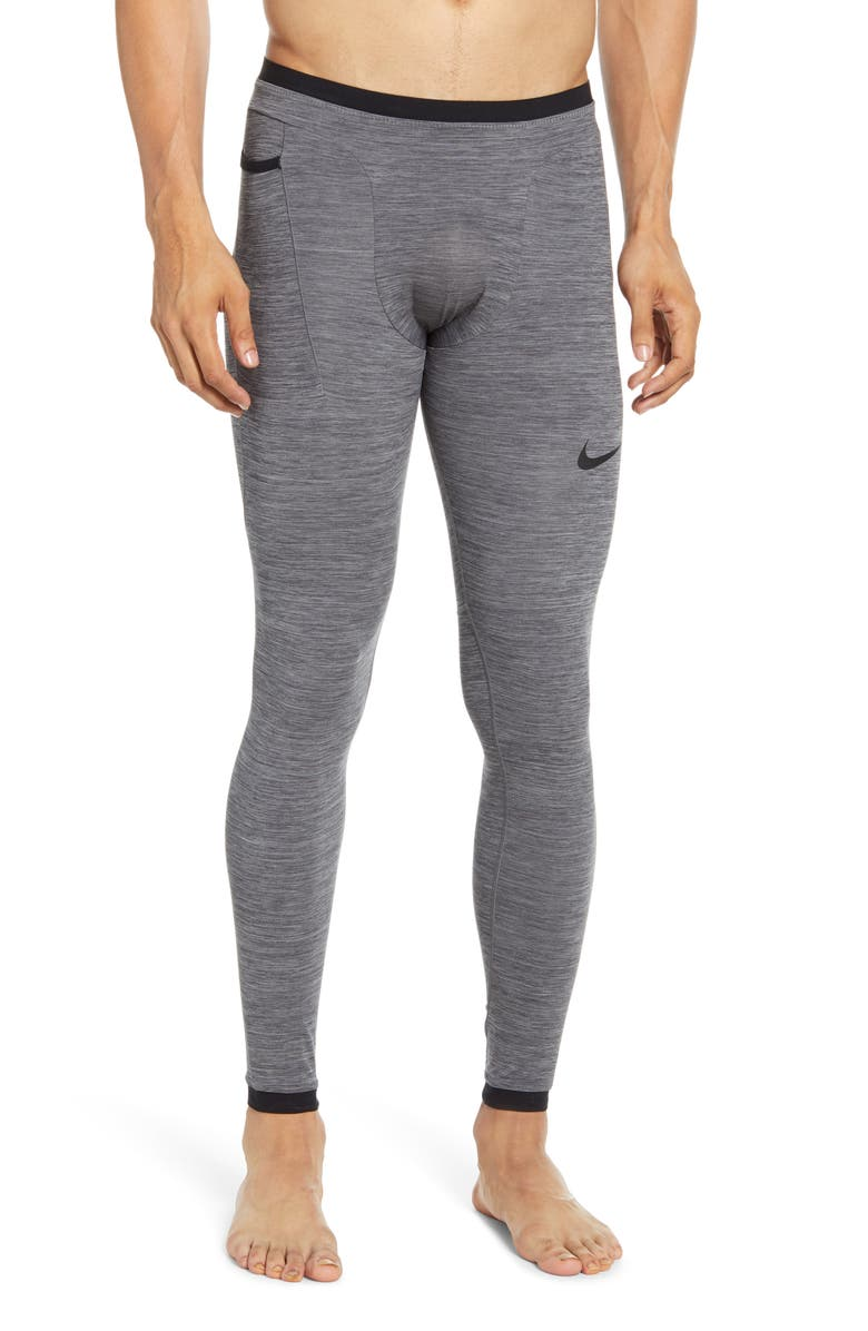 NIKE Dri-FIT NPC Performance Tights, Main, color, CHARCOAL HEATHR/ BLACK