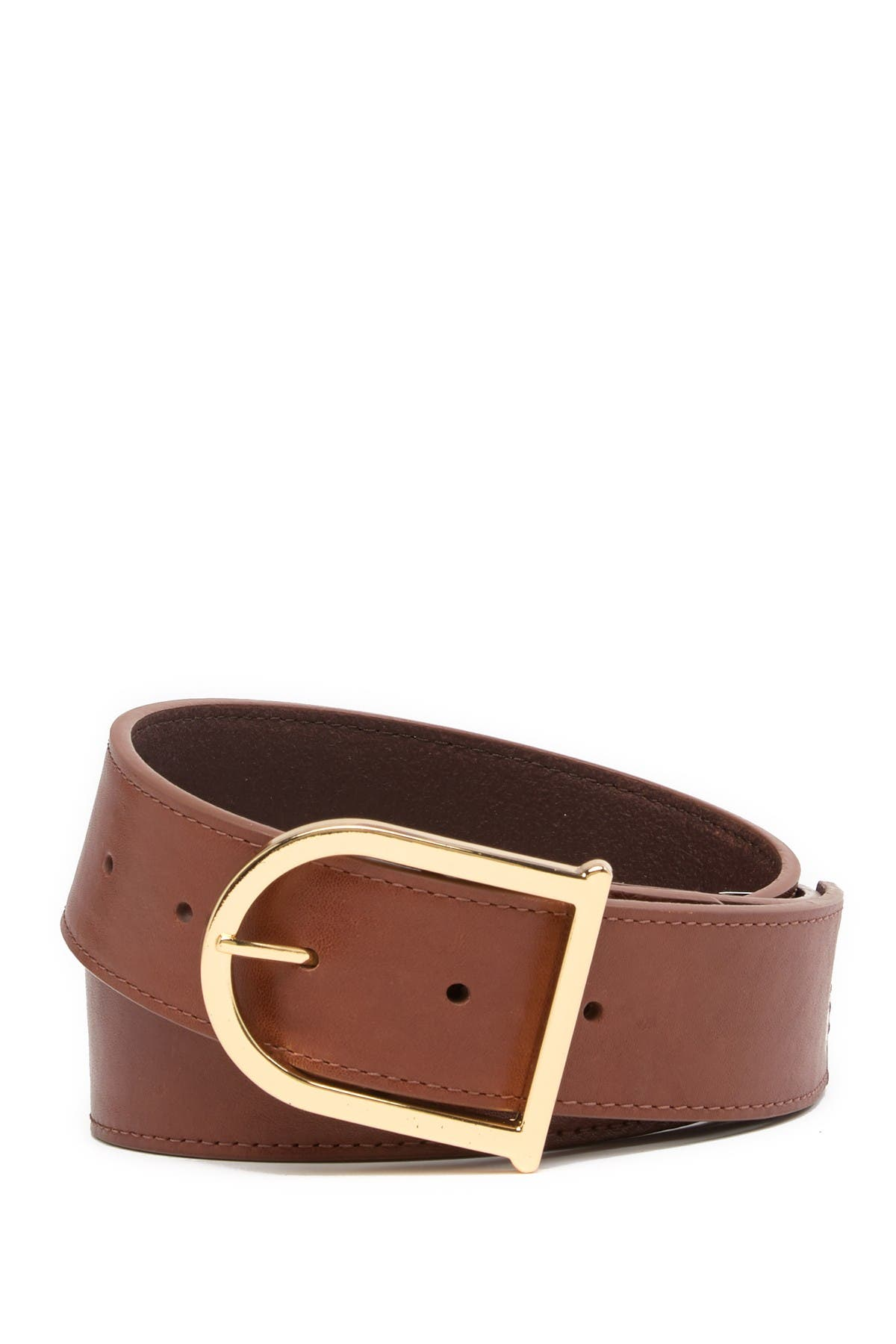Image of Vince Camuto Smooth Leather Signature Belt