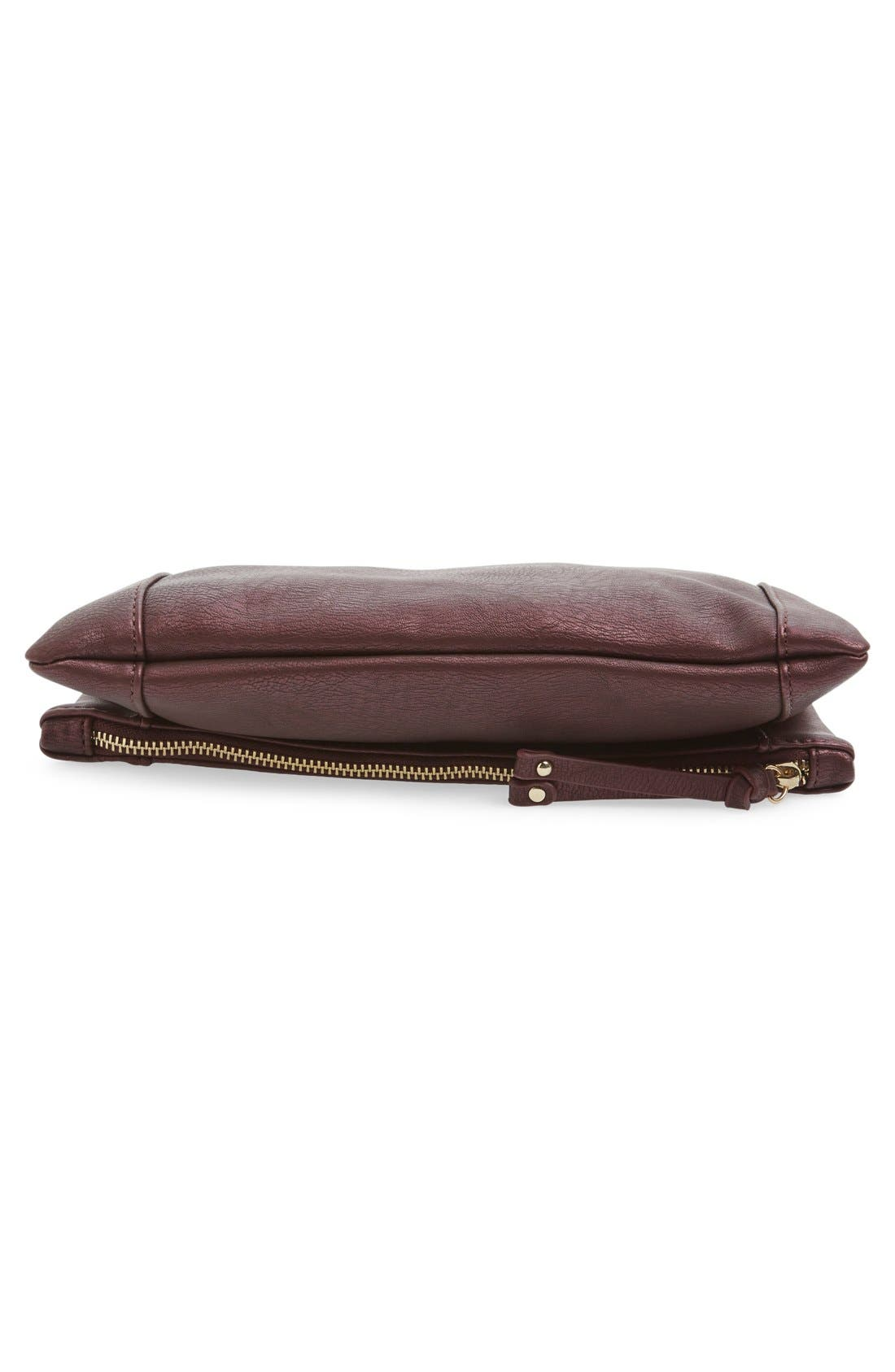 ,                             Marlena Faux Leather Foldover Clutch,                             Alternate thumbnail 70, color,                             500