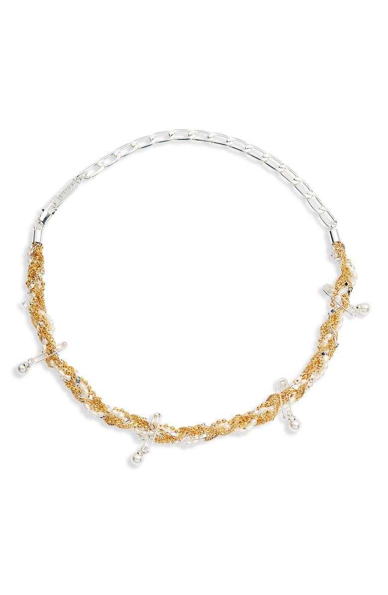 BILLIE VALENTINE Tangle Genuine Pearl Necklace, Main, color, 040
