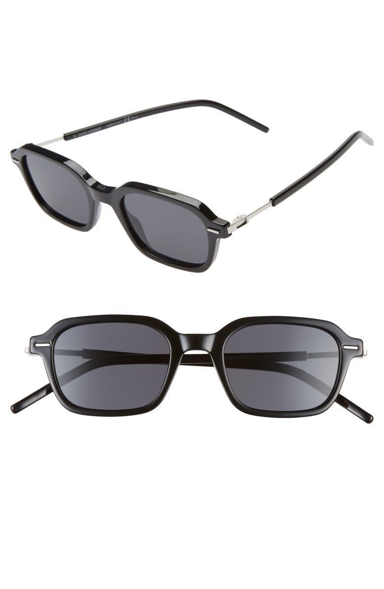 DIOR Technicity 1 49mm Sunglasses, Main, color, BLACK