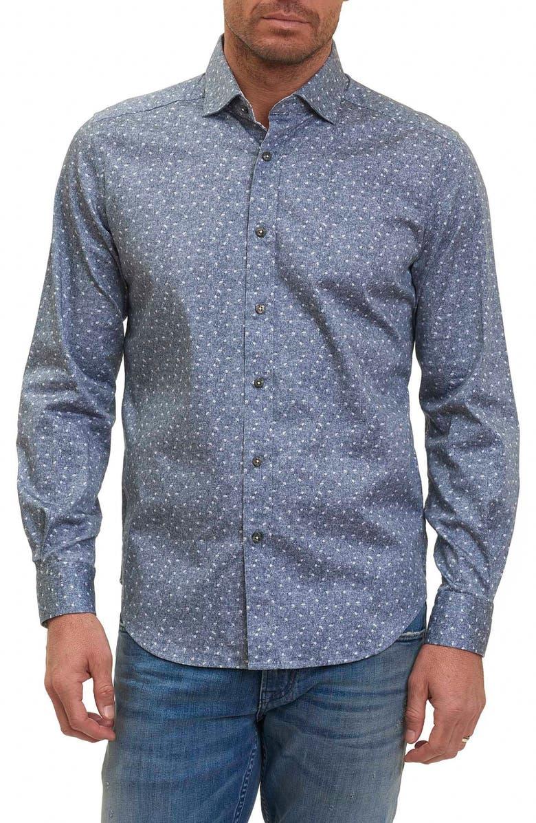ROBERT GRAHAM Zander Tailored Fit Sport Shirt, Main, color, 020