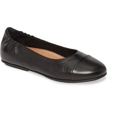 Fitflop Allegro Cap Toe Ballet Flat, Black