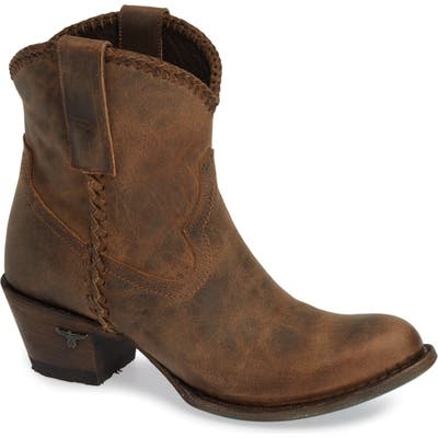Lane Boots Plain Jane Western Boot- Brown