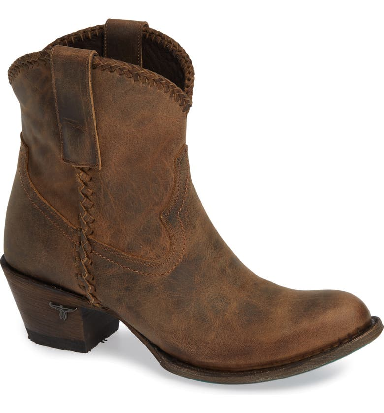 LANE BOOTS Plain Jane Western Boot, Main, color, BROWN LEATHER