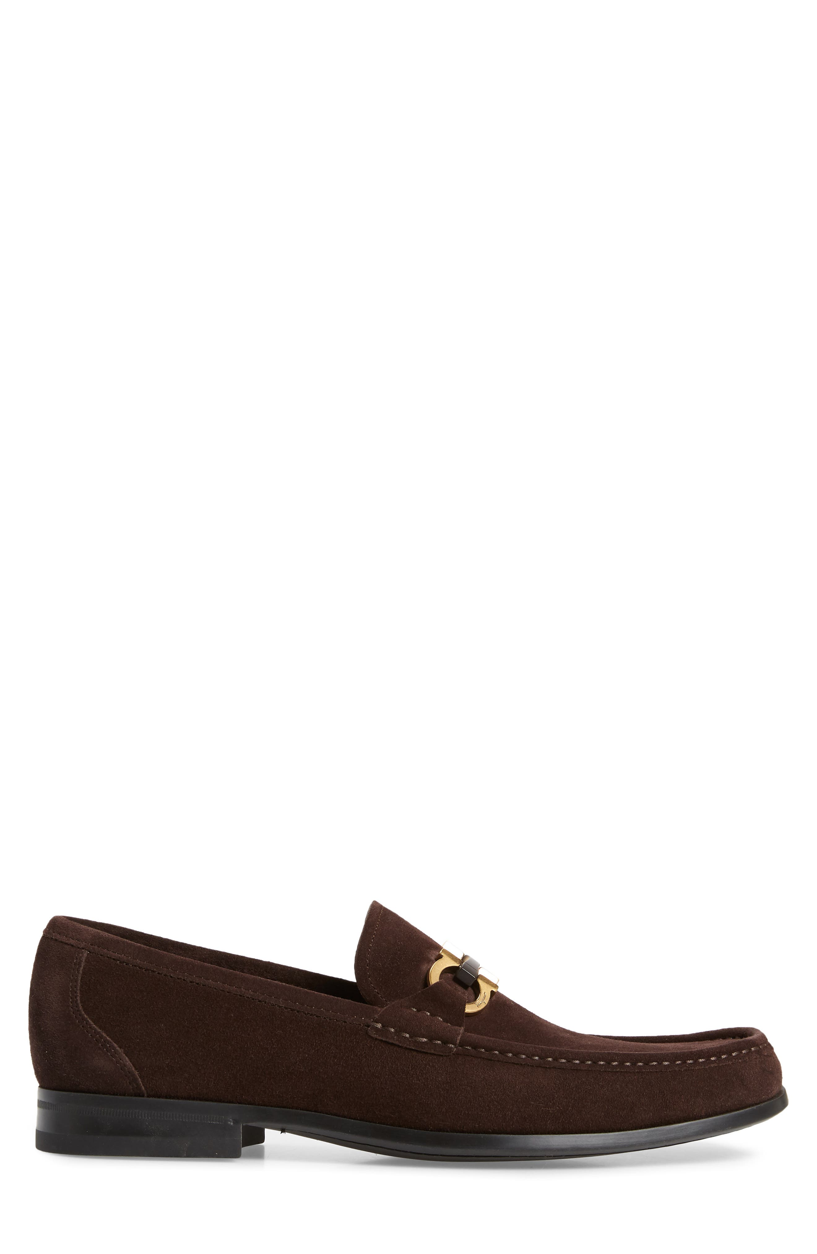 ,                             Grandioso Bit Loafer,                             Alternate thumbnail 3, color,                             BROWN SUEDE