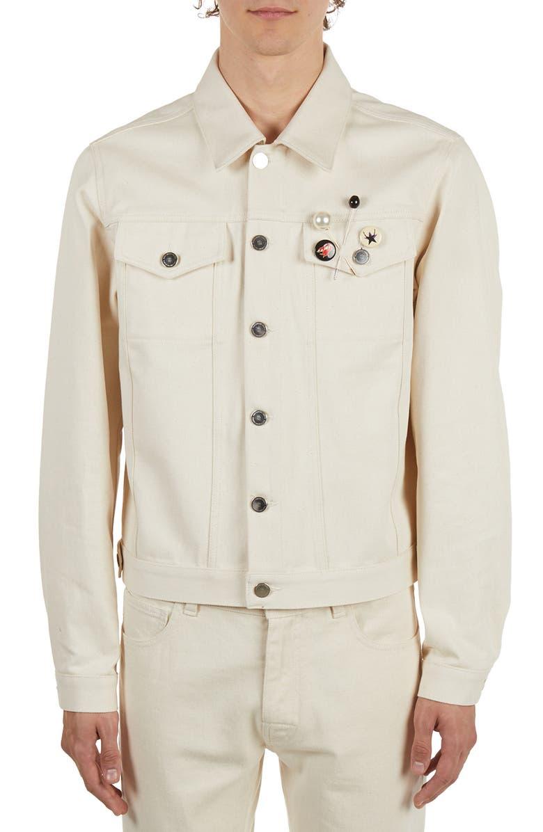 RAF SIMONS Slim Fit Denim Jacket, Main, color, 900