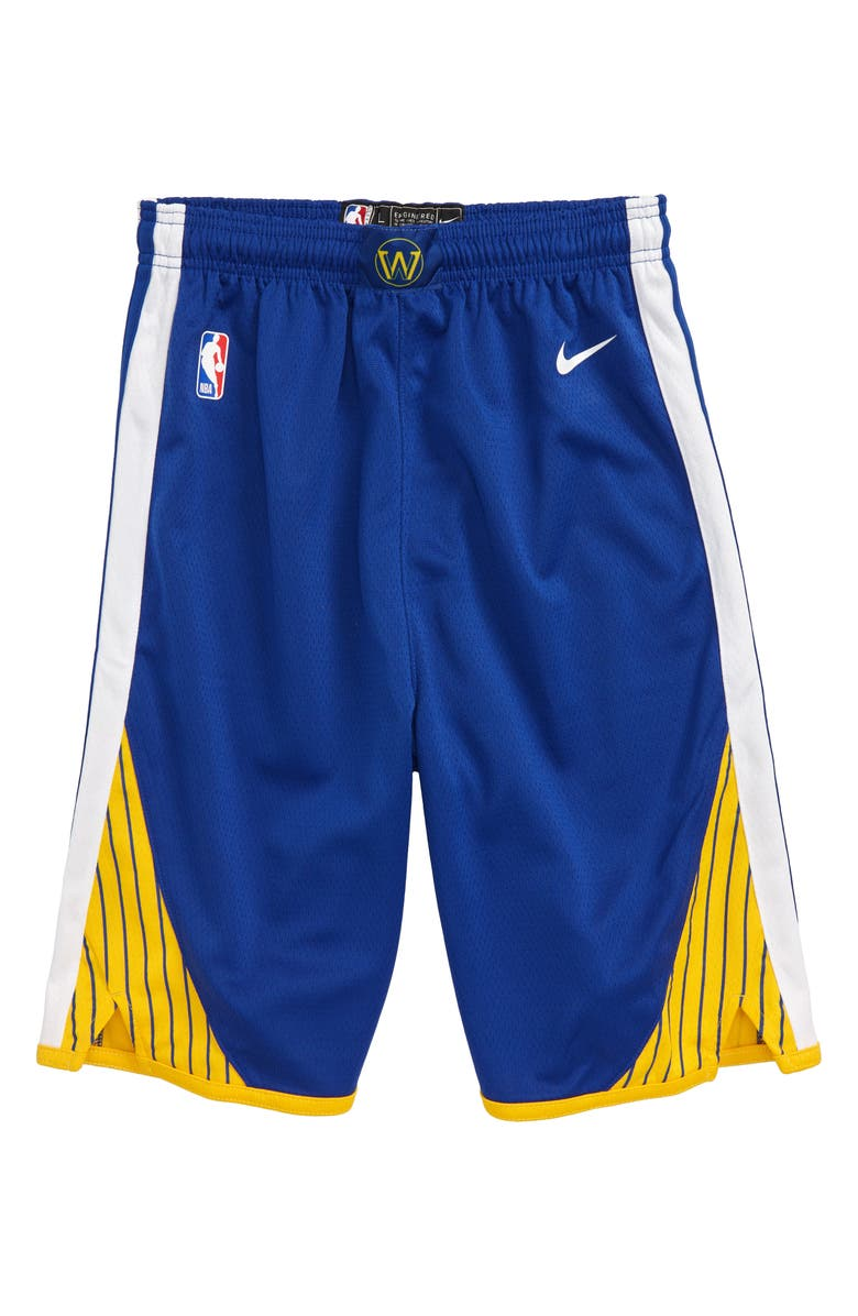 NIKE NBA Golden State Warriors Athletic Shorts, Main, color, AMARILLO