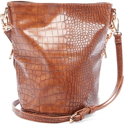 Sole Society Fayre Faux Leather Bucket Bag - Brown