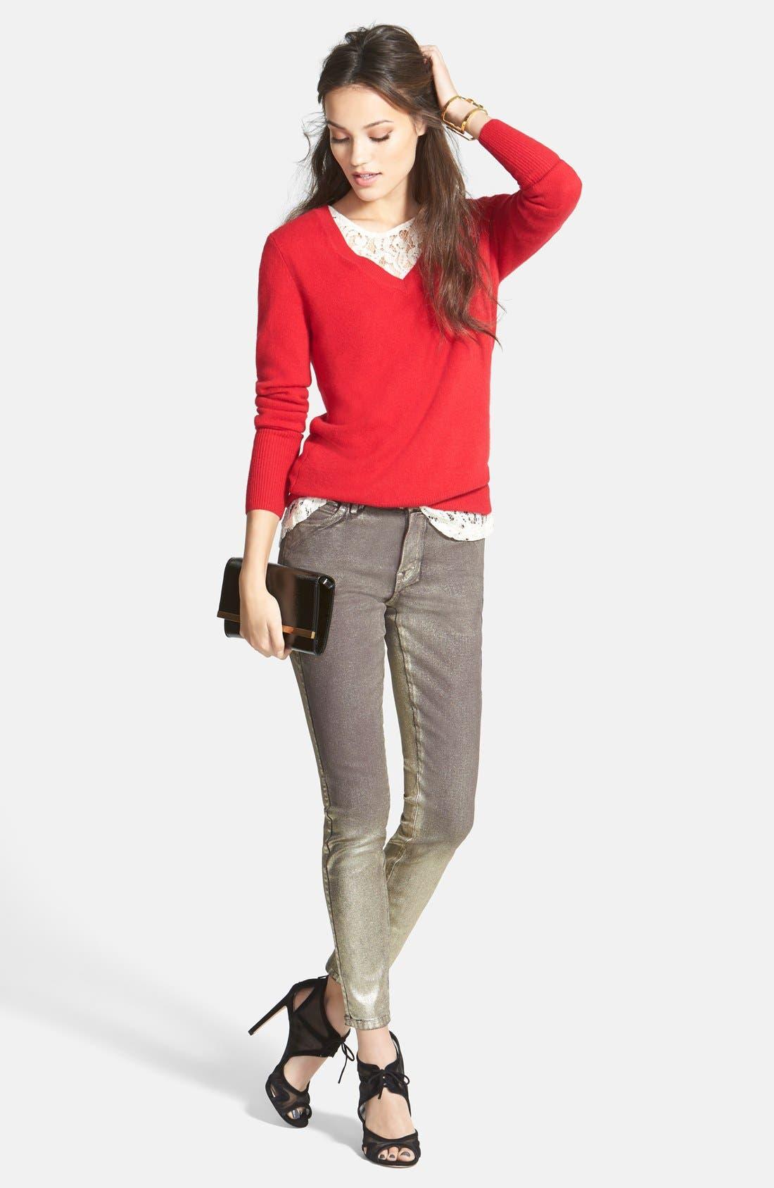 ,                             Cashmere V-Neck Sweater,                             Alternate thumbnail 72, color,                             610