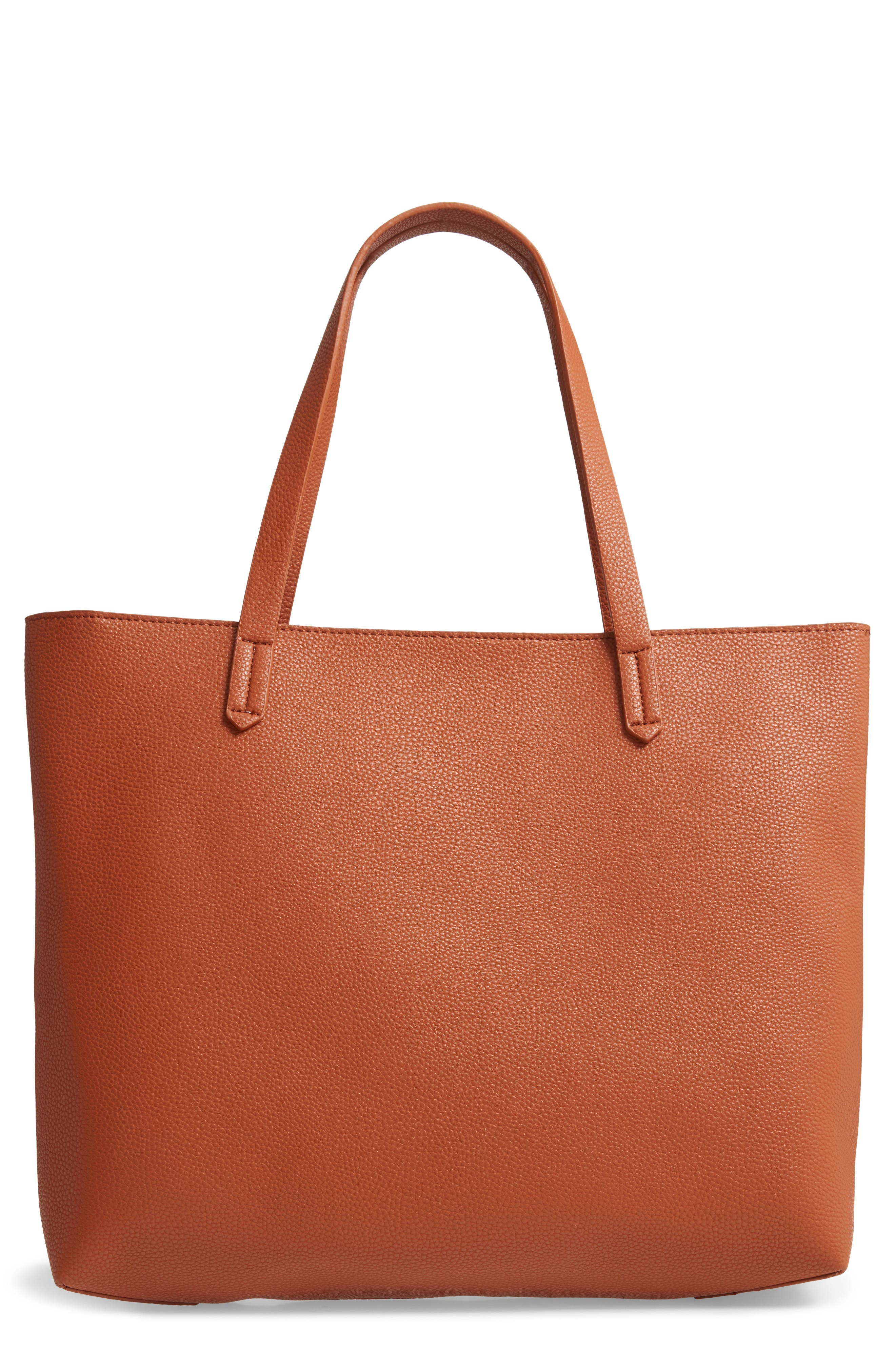 Faux Leather Classic Tote