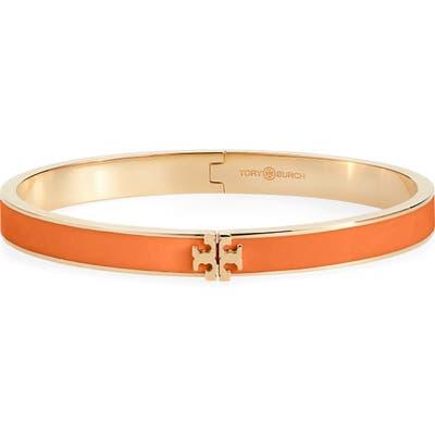 Tory Burch Kira Logo Enamel Hinge Bracelet