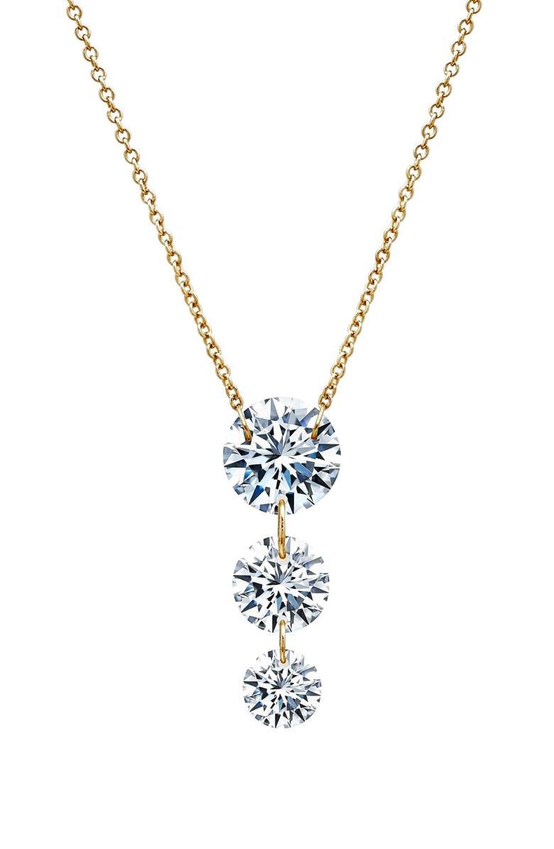 LAFONN In Motion Frameless Past, Present Future Tense Pendant Necklace, Main, color, GOLD