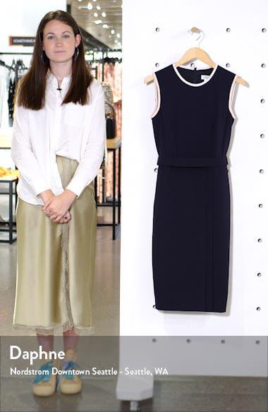 Farad Crepe Sheath Dress, sales video thumbnail