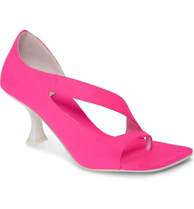 JEFFREY CAMPBELL Berger Sandal, Main, color, PINK NEON