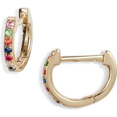 Ef Collection Rainbow Mini Huggie Hoop Earrings