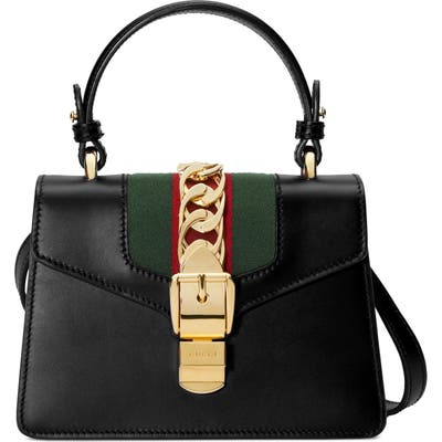 Gucci Mini Top Handle Leather Shoulder Bag -