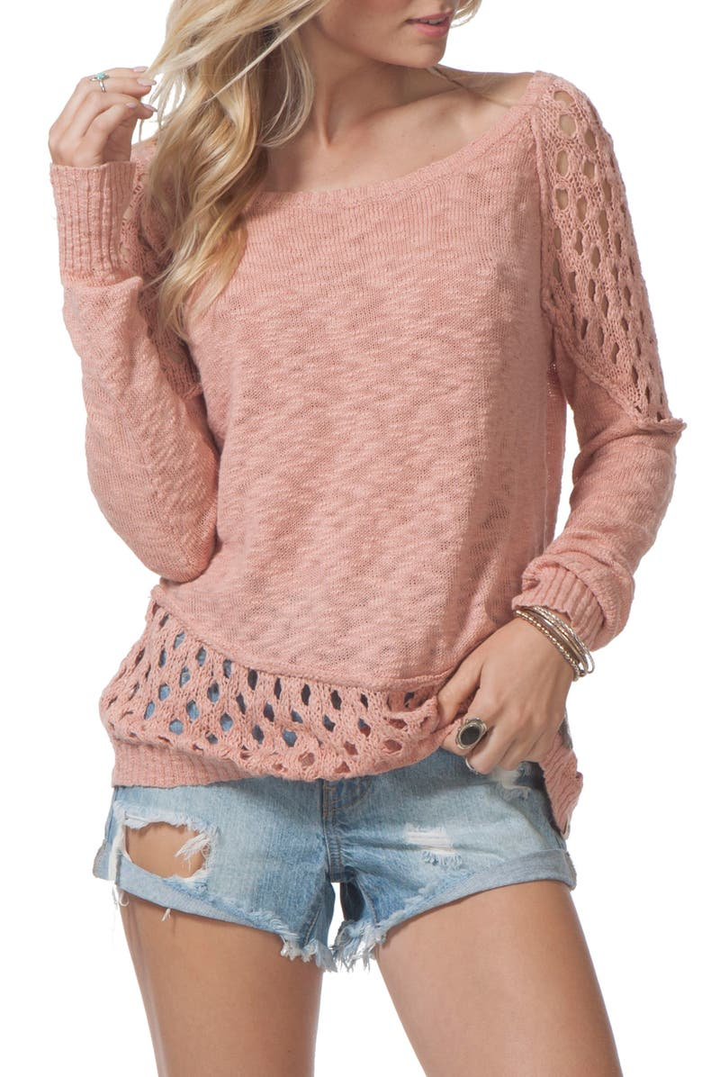 RIP CURL Moonshine Cotton Pullover, Main, color, 650